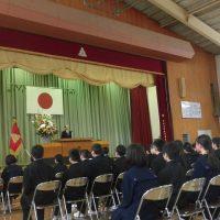 福島市立渡利中学校平成30年度第72回入学式