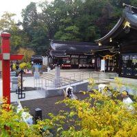 福島中央ライオンズクラブの福島県護國神社境内周辺清掃