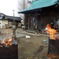 七社宮神社どんど焼き