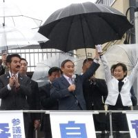菅義偉内閣官房長官・森まさこ参議院議員の街頭演説会