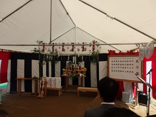 渡利学習センター建築工事安全祈願祭
