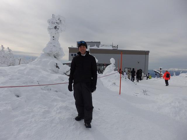 仙台・福島・山形市議会広域観光連携推進協議会の視察(蔵王山頂の樹氷)