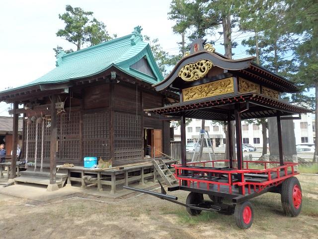 七社宮神社の新しい山車