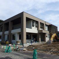 建設中の新渡利学習センター