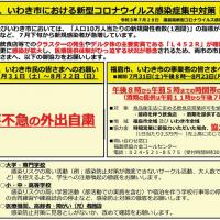 福島市、いわき市における新型コロナウイルス感染症集中対策