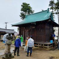 七社宮神社の祭礼式典の準備